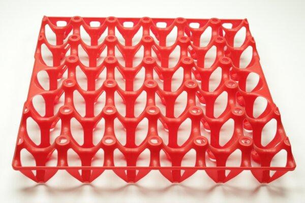 1 Kunststoff Eierlage rot
