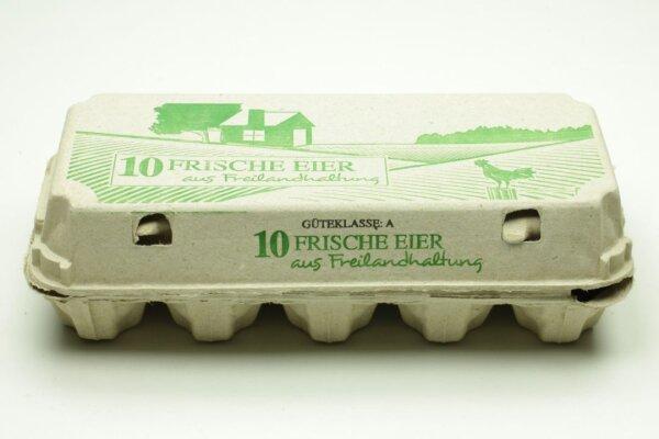 3080 Eierschachteln TOP 10 frische Eier aus Freilandhaltung