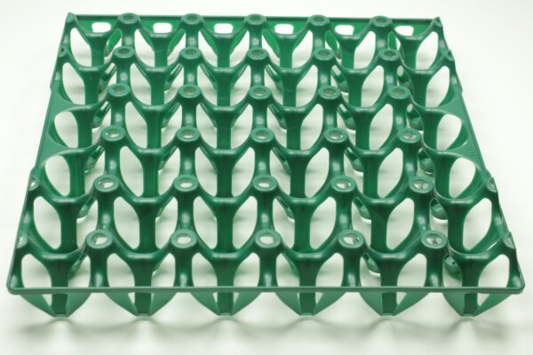 1 Kunststoff Eierlage grün