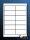 100 Blatt selbstklebende Etiketten 97 x 42,3 mm