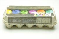 1 Eierschachteln TOP 10 für 10 gefärbte Eier