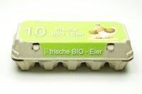 Eierschachtel TOP 10 mit Bio Etikett