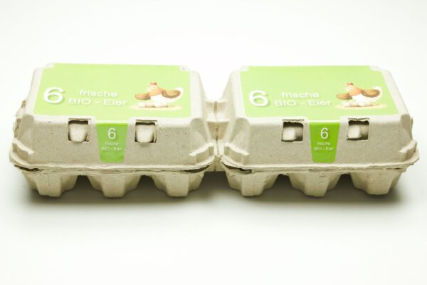 1 Eierschachteln TOP 6 ( 2 x 6er ) BIO Aufdruck