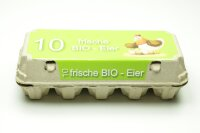 3080 Eierschachteln TOP 10 mit Bio Etikett