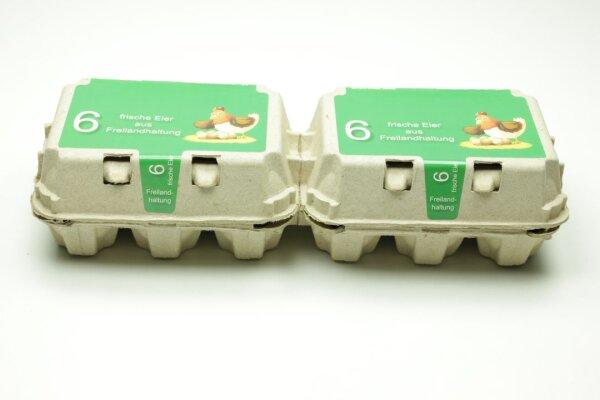 260 Eierschachteln TOP 6 ( 2 x 6er ) Freilandhaltung